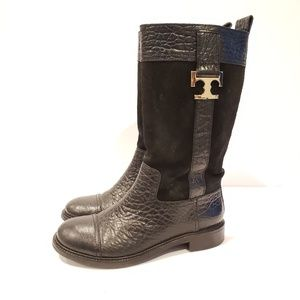 Tory Burch Corey leather suede boots size 6.5
